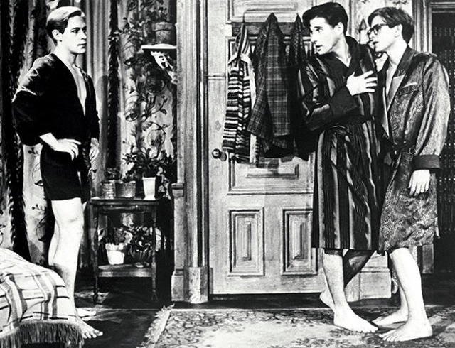 [Bent (1979 - 1980 Broadway) Play by Martin Sherman Directed by Robert Allan Ackerman Shown from left: James Remar, Richard Gere, David Marshall Grant.]