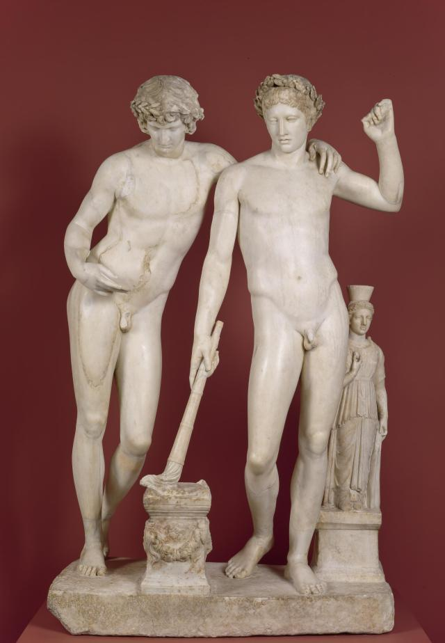 "Grupo de San Hildefonso"", museo del Prado (Madrid), / Orestes und Pilades?."