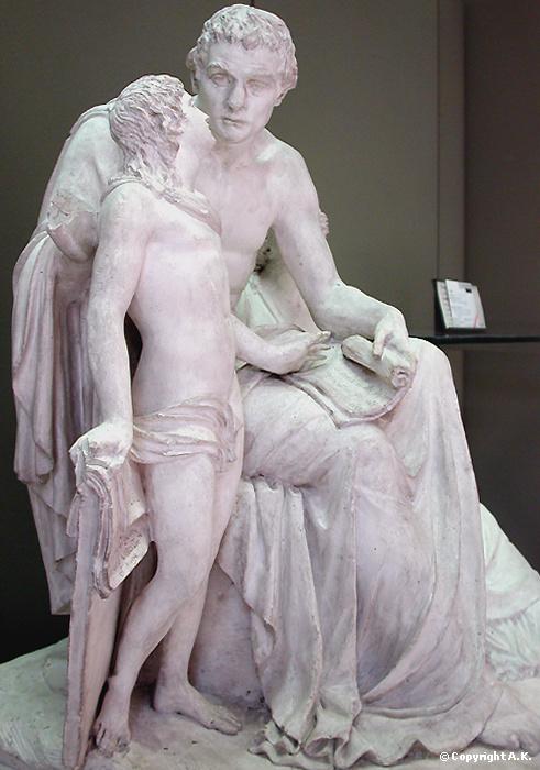 Monumentos a Rousseau en el Jardín de las Tullerías y el museo del Louvre