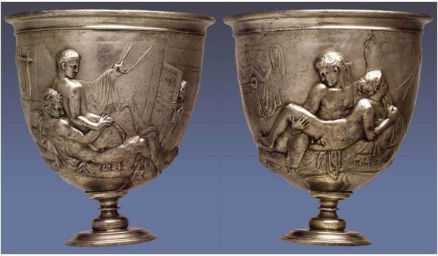 Copa Warren, imperio romano. Se calcula que fabricada hacia el siglo I a.C. .