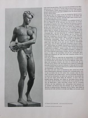"""Ottmar Obermayer. Standbild, """"Meister im Wurf"""", GKA, 1940. http://www.germanartgallery.eu/m/Webshop/0/product/info/Ottmar_Obermaier,_Der_Sieger&id=175 ."""