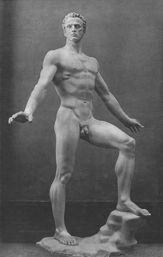 """Arno Breker, """"Der Sieger"""" (= """"El vencedor""""), 1939. Estatua en mármol."""