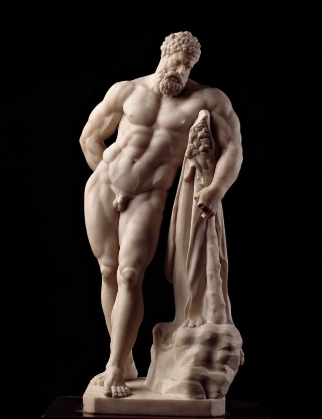 """Hércules, """"Ercole farnese"""", Siglo II antes de Cristo."""