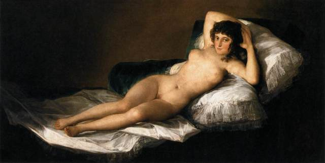 Francisco de Goya y Cifuentes, Maja desnuda.