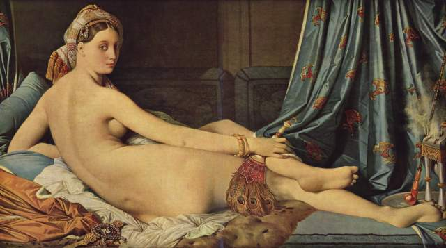 Jean August Dominique Ingres, La Gran Odalisca, 1814.