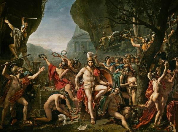 David, Leónidas en las Termópilas.