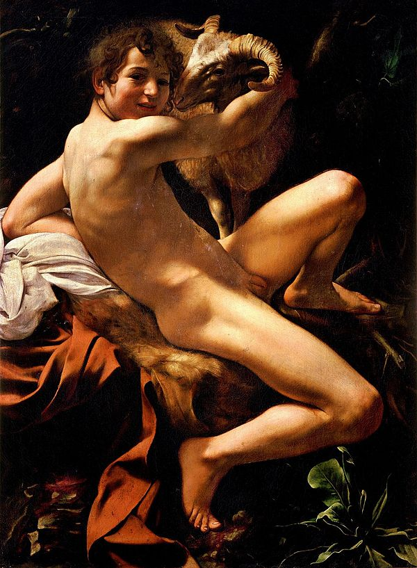 """Caravaggio, San Giovanni Battista, """"Giovannino""""."""