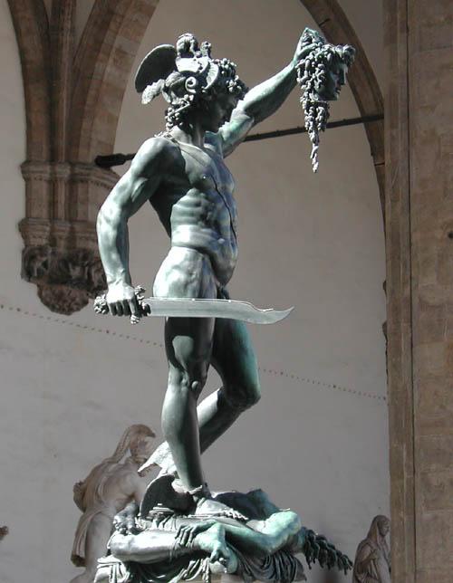 Benbenutto Cellini, Perseo. Bronce.