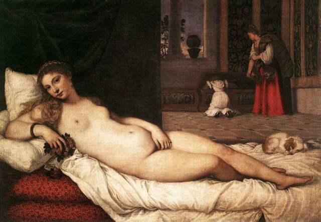 Tiziano, Venere d' Urbino.