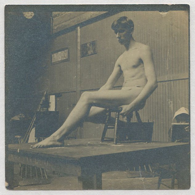 Study photo from the Thomas Eakins studio