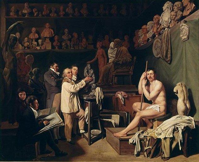 Maurice Lecesne, Louis Léopold Boilly L'Atelier de Jean Houdon. Musée national des châteaux de Versailles et de Trianon