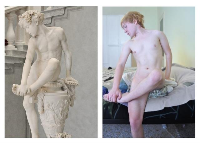 """Arte a la derecha, y """"pornografía"""" a la izquierda, según la sucia mente del judaismo en su """"ética para goim"""". La pseudoética judaista farisea para judíos es mucho peor: afirma obscenas, inmorales, diabólicas, ambas imágenes; por eso no ha habido nunca, ni hay, ni habrá escultores judíos de importancia, su esterididad y nulidad en esto es proverbial."""