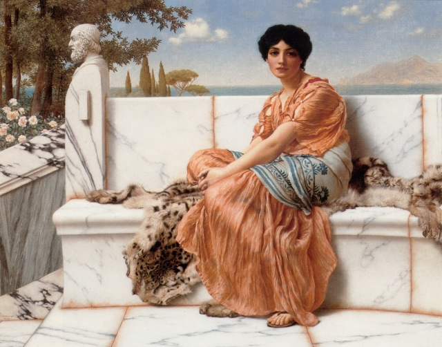 "John William Godward (1861-1922) ""En los días de Safo"""