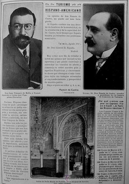 Retrato de Vázquez de Mella y otro.