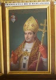 Frsy Zeferino González O.P. retrato en una sala de laCatedral de Toledo, España. Está ataviado cual Cardenal Arzobispo deToledo y Primado de España.