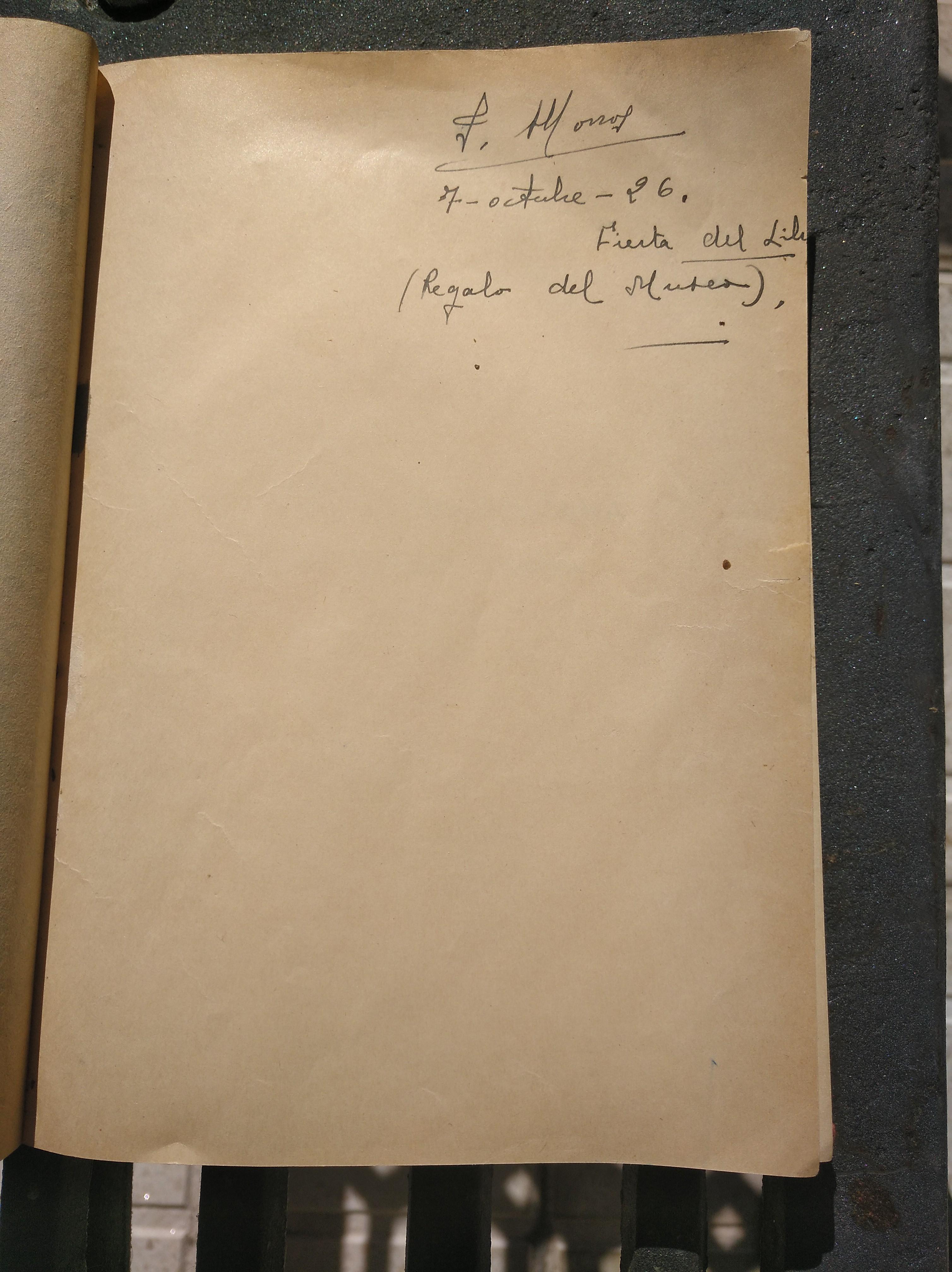 """Fernández Nonídez,, de un ejemplar de la primera edición de 1922, ... de la colección privada """"Josefina González y Valdayo, Armonía"""""""