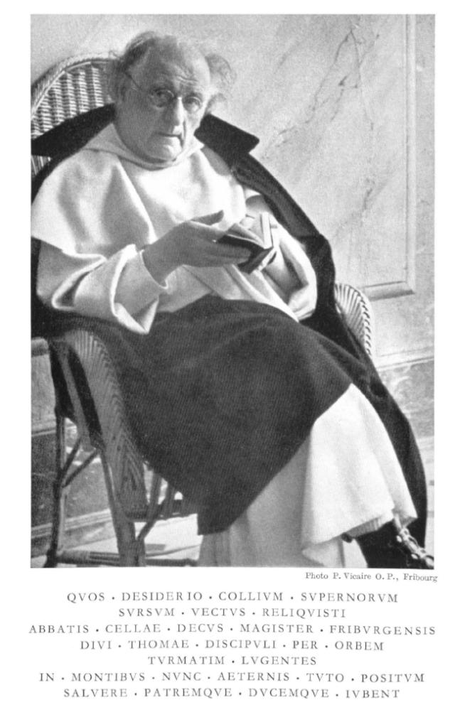 Gallus Maria Manser, O.P., Freiburg in der Schweiz, Portrait,1950)