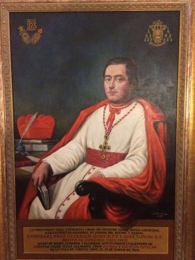 Fray Zeferino González, O.P., retrato al óleo, del pintor pontanés Don Antonio Carmona, en 1878.