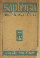 Portada de un ejemplar de la revista Sapienza 1948